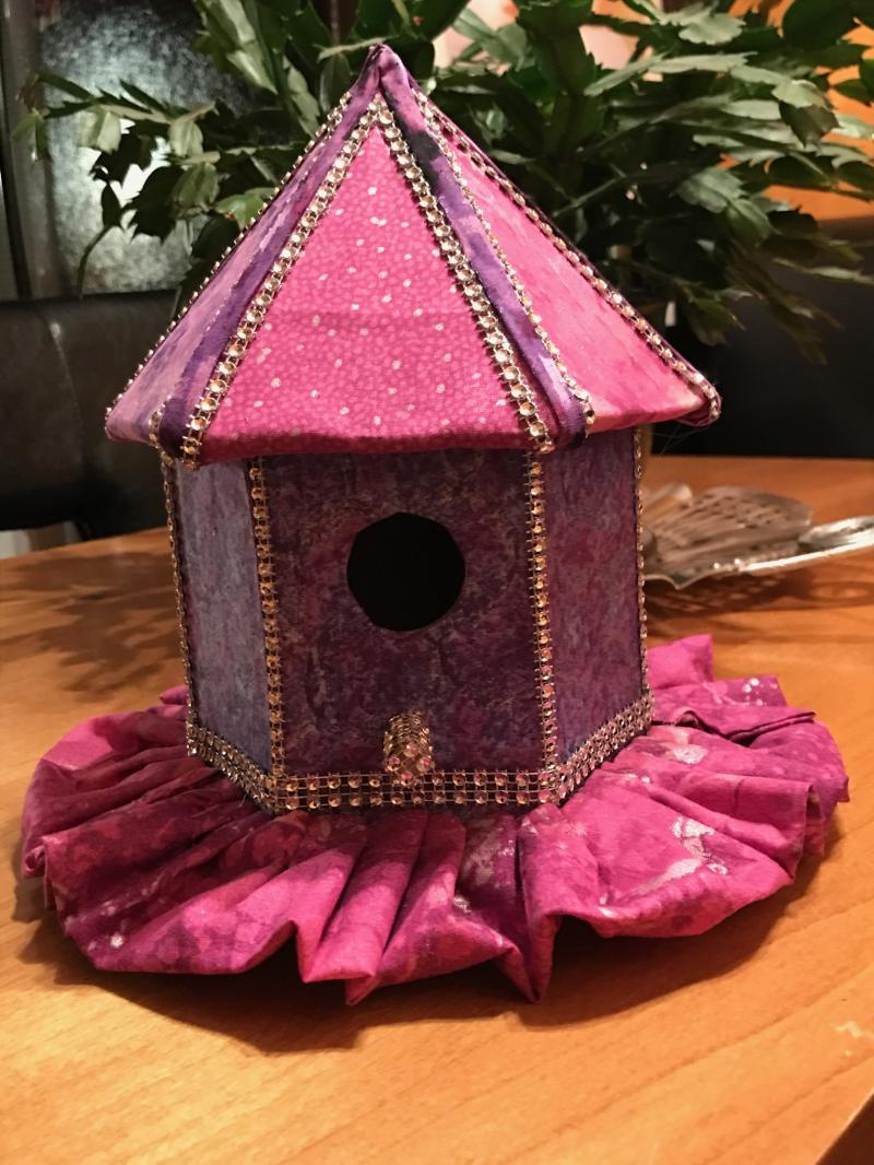 Dancehall Birdhouse by Linda Shelton