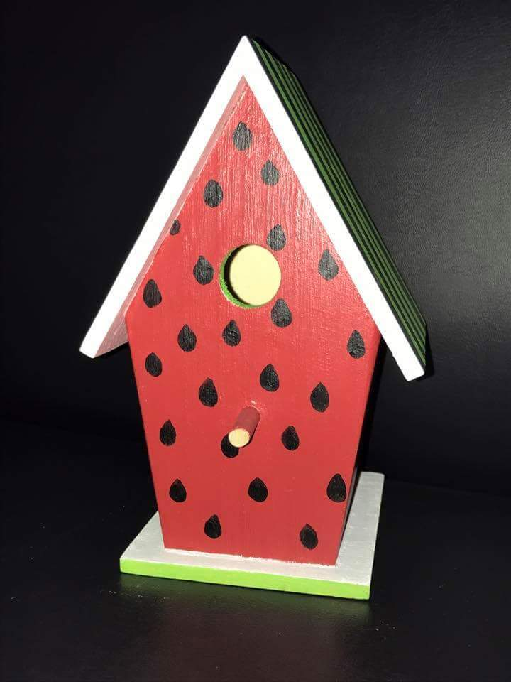Watermelon Birdhouse by Dr. Becky Brinkman